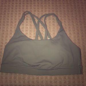 Lulu Lemon Olive green criss-cross back Sports Bra